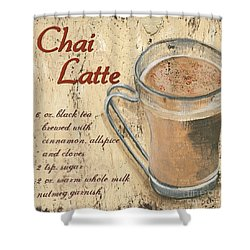 Chai Latte Shower Curtain by Debbie DeWitt