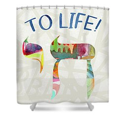 Chai To Life- Art By Linda Woods Shower Curtain