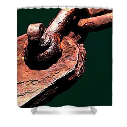 Shower Curtain featuring the photograph Chain Age II by Stephen Mitchell