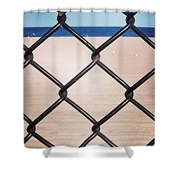Chain Fence At The Beach Shower Curtain