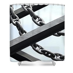 Chain Links Shower Curtain