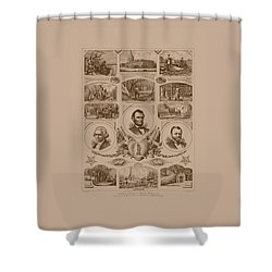 Chain Of Events In American History Shower Curtain by War Is Hell Store