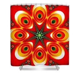 Chained Sunburst Shower Curtain