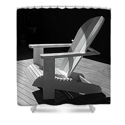 Chair In Black And White Shower Curtain