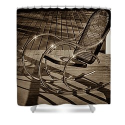 Shower Curtain featuring the photograph Chair by Samuel M Purvis III