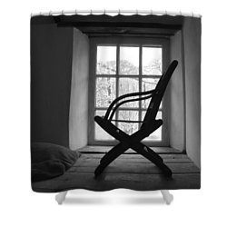 Chair Silhouette Shower Curtain by Helen Northcott