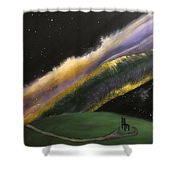 Shower Curtain featuring the mixed media Chair by Steve  Hester