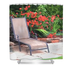 Chair Waiting Shower Curtain by Susan Crossman Buscho