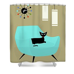 Chair With Ball Clock Shower Curtain