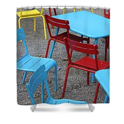 Chairs In Bryant Park Shower Curtain by Lauri Novak