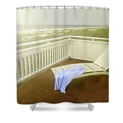 Chaise Lounge Shower Curtain by Diana Angstadt