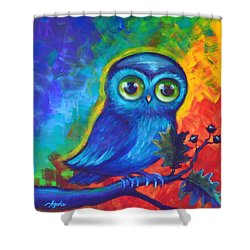 Chakra Abstract With Owl Shower Curtain