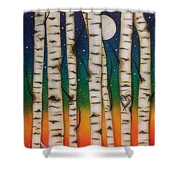 Chakra Rainbow Forest Shower Curtain