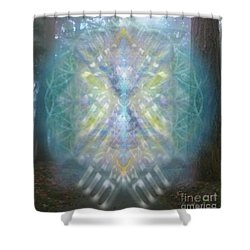 Chalice-tree Spirit In The Forest V1 Shower Curtain by Christopher Pringer