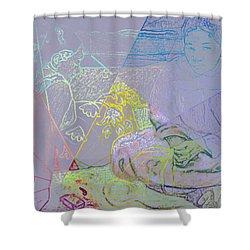 Chalkboard Shower Curtain
