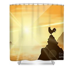Challenge The Sun Shower Curtain