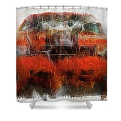 Challenger Wash Shower Curtain by Michael Cleere