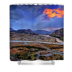 Chalten-03 Shower Curtain by Bernardo Galmarini