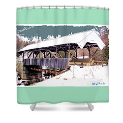 Chamberlain Bridge Shower Curtain by John Selmer Sr