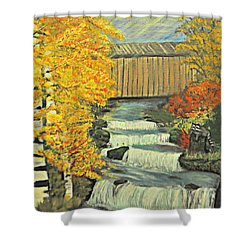 Chambers Covered Bridge  Shower Curtain