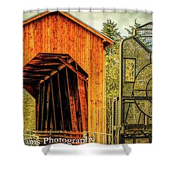 Chambers Railroad Bridge Shower Curtain