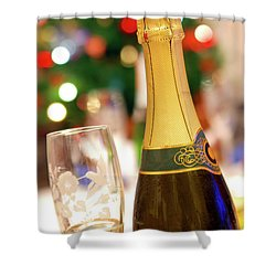 Champagne Shower Curtain by Carlos Caetano