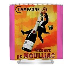 Champagne Celebration Shower Curtain