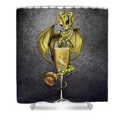 Champagne Dragon Shower Curtain