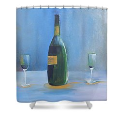 Champagne For Two Shower Curtain