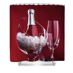 Shower Curtain featuring the photograph Champagne For Two by Tom Mc Nemar