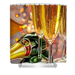 Champagne Wishes Shower Curtain