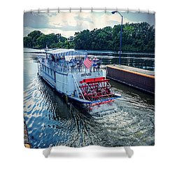 Shower Curtain featuring the photograph Champlain Canal Patriot by Kendall McKernon