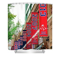 Champs Again Shower Curtain