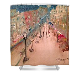 Champs De Elysee At Twilight. #paris Shower Curtain