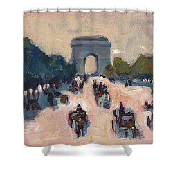 Champs Elysees Paris Shower Curtain
