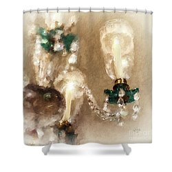 Shower Curtain featuring the digital art Chandelier At Winterthur by Lois Bryan