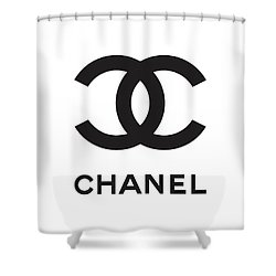 Chanel Logo Shower Curtains