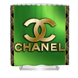 Shower Curtain featuring the digital art Chanel - Chuck Staley by Chuck Staley