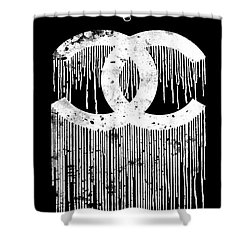 Chanel Dripping Poster Print Citation Logo Shower Curtain