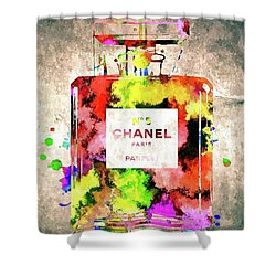 Chanel No 5 Shower Curtain