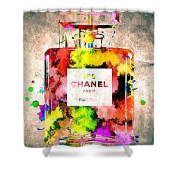 Chanel No 5 Grunge Shower Curtain