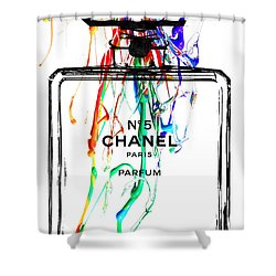 Chanel No. 5 Watercolor Shower Curtain