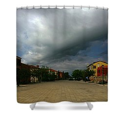Shower Curtain featuring the photograph Change In The Weather by Anne Kotan