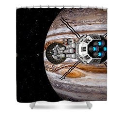 Changing Course Shower Curtain by David Robinson