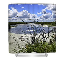 Channel Into J. C. Murphy Lake Shower Curtain
