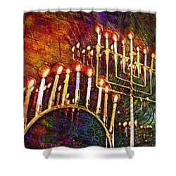 Chanukiah Shower Curtain