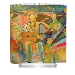 Shower Curtain featuring the painting Chaos And Redemption by John Keaton