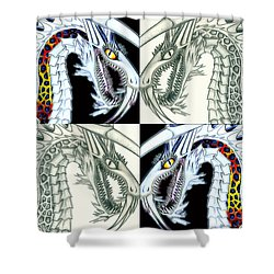 Chaos Dragon Fact Vs Fiction Shower Curtain