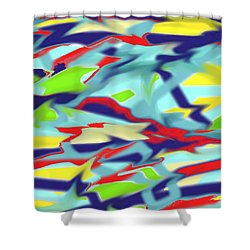 Chaos Into Form Blue Shower Curtain