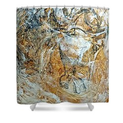 Shower Curtain featuring the painting Chaos by Jennifer Godshalk
